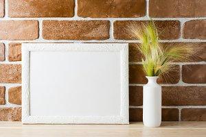 White landscape frame mockup