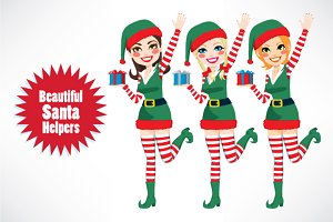 Beautiful Santa Elf Helpers