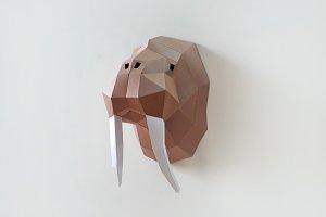 Diy Goat Trophy 3d Papercrafts Creative Templates Creative Market