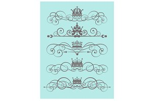 Ornate design elements vector art
