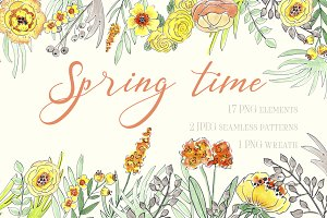 SPRING TIME watercolor set