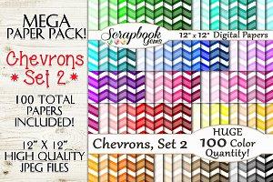 100 Color Chevron Papers, Set 2