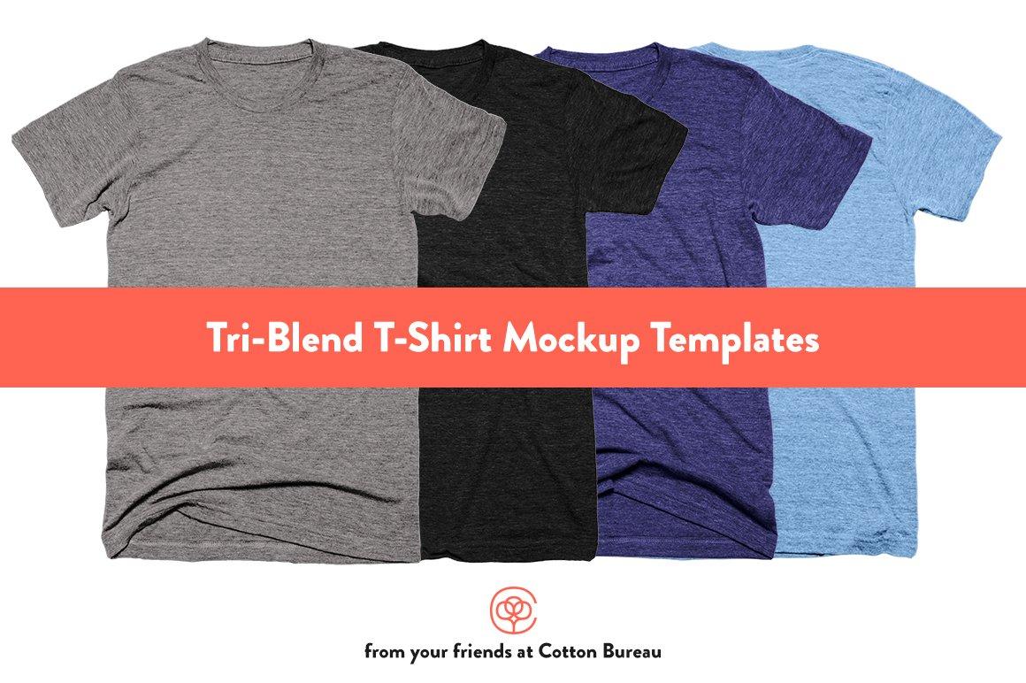 TriBlend TShirt Mockups Templates Creative Market - T shirt mockup template