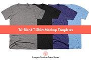 Tri-Blend T-Shirt Mockups 2.0