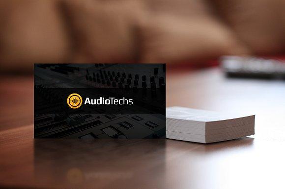 Music production business card arts arts audio engineer business cards logo card templates colourmoves