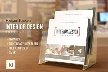INTERIOR DESIGN • Square Brochure •