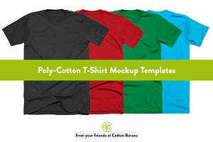Poly-Cotton T-Shirt Mockups 2.0