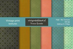 Vintage print textures