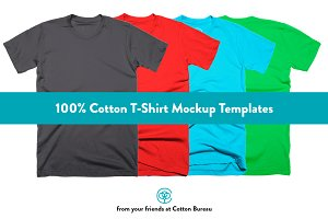 100% Cotton T-Shirt Mockups 2.0