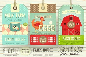 Farm Price Tag Label Set 2