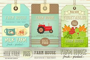 Farm Price Tag Label Set 3