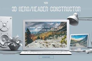 3D Hero/Header Constructor