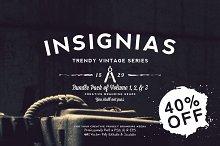 33 Trendy Vintage Insignias Bundle 1