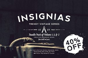 33 Trendy Vintage Insignias Bundle 1