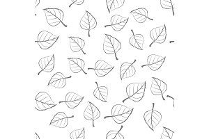 Leaves Seamless Pattern Vector Illustration