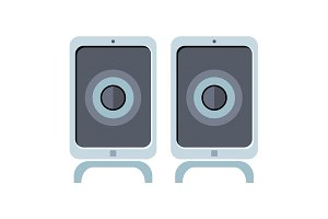 Illustration of Computer Speakers