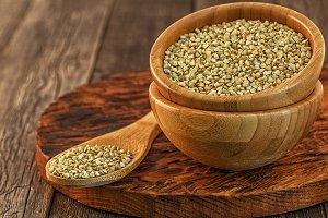 Organic green buckwheat.