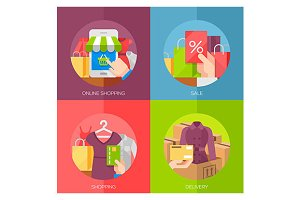 shopping concept icons