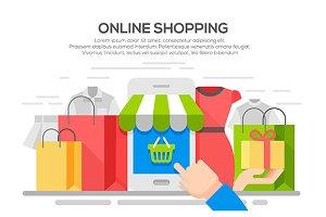 Online shopping banner