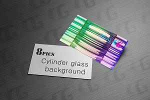 Cylinder glass background