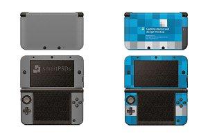Nintendo 3DS XL Skin Mockup