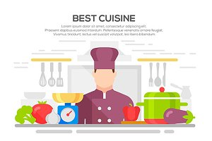 best cuisine concept illustration