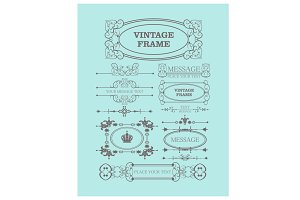 Vintage Element Vector Set