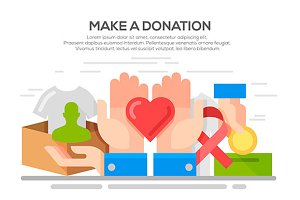 Donation and volunteer work concept