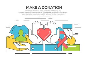 Donation and volunteer concept