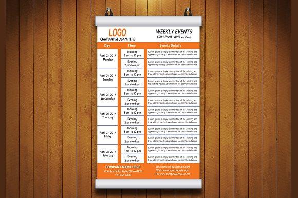 weekly event flyer flyer templates creative market