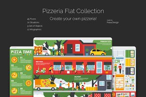 Pizzeria Flat Collection
