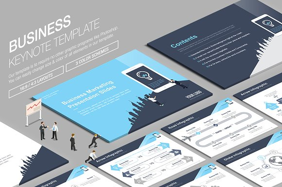 Business Keynote Template vol.12