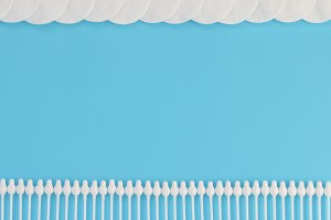 Pattern of cotton swabs and pad.