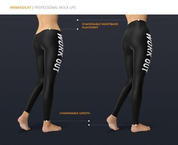 efc858e7d98ed Leggings Mock-Up ~ Product Mockups ~ Creative Market