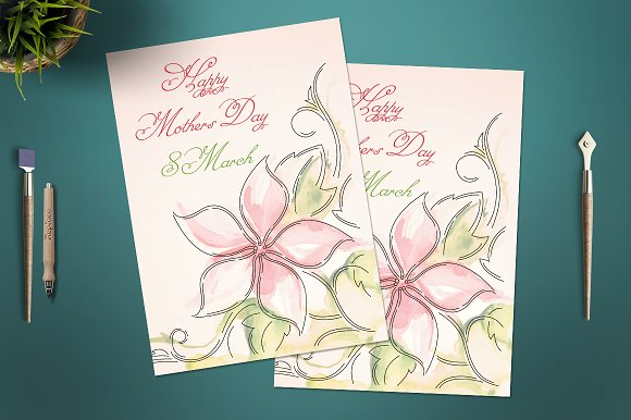 Mother S Day Card Template Cards