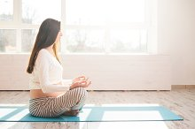 Yoga practice for pregnant