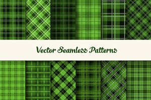 Seamless green patrick tartans