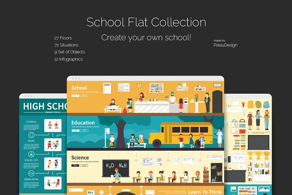 School Flat Collection