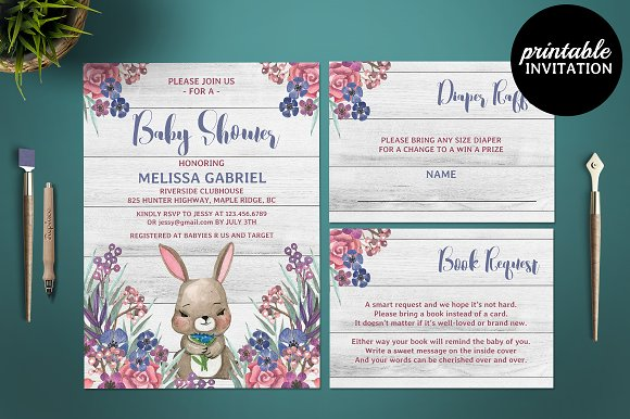Baby Shower Set Template
