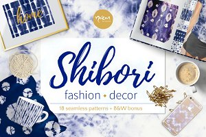 Shibori fashion & decor pattern pack