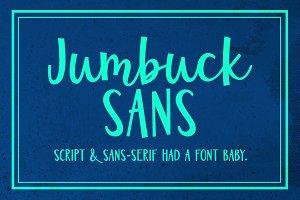 Jumbuck Sans: a sans/script font!