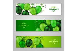 Saint Patrick's Day Horizontal Banners