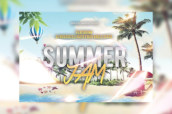 summer jam party flyer flyer templates creative market