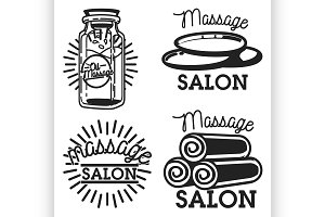 massage salon emblems