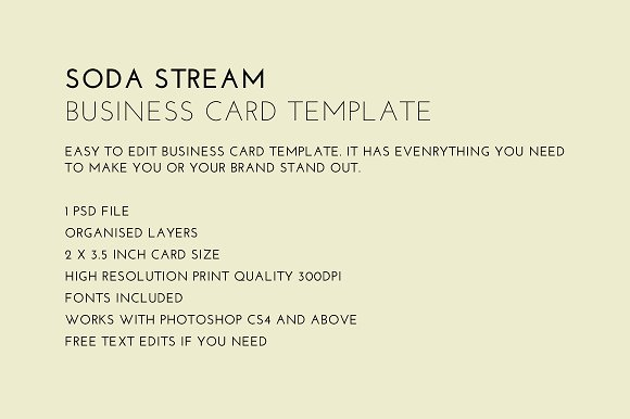 Soda stream business card business card templates creative market reheart Image collections