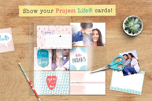 Mockup For Project Life Cards