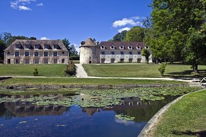 Park in the old French castle.