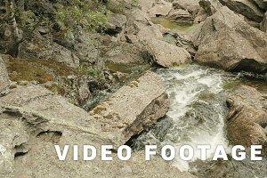 Norwegian mountain river. Smooth slider shot