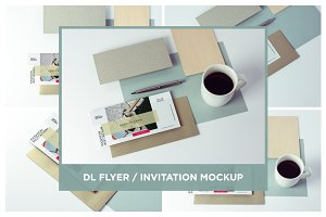 DL Flyer / Invitation Mock-up