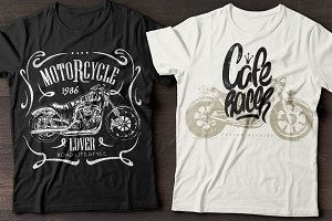 Motorcycles T-shirt graphics